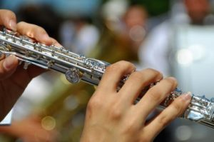 playing musical instrument with braces